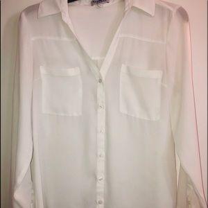 Express Portofino Shirt white size small